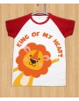 King of Heart Lion - Round Neck T-shirt